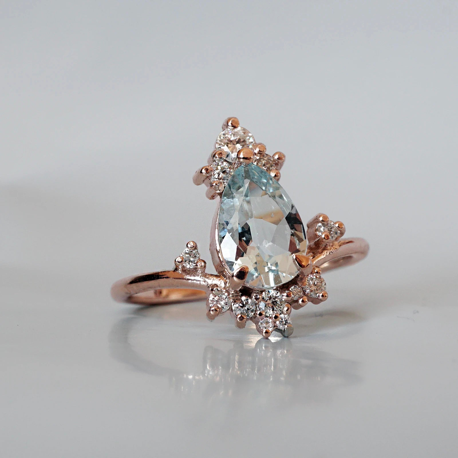 Freya Aquamarine Diamond Ring