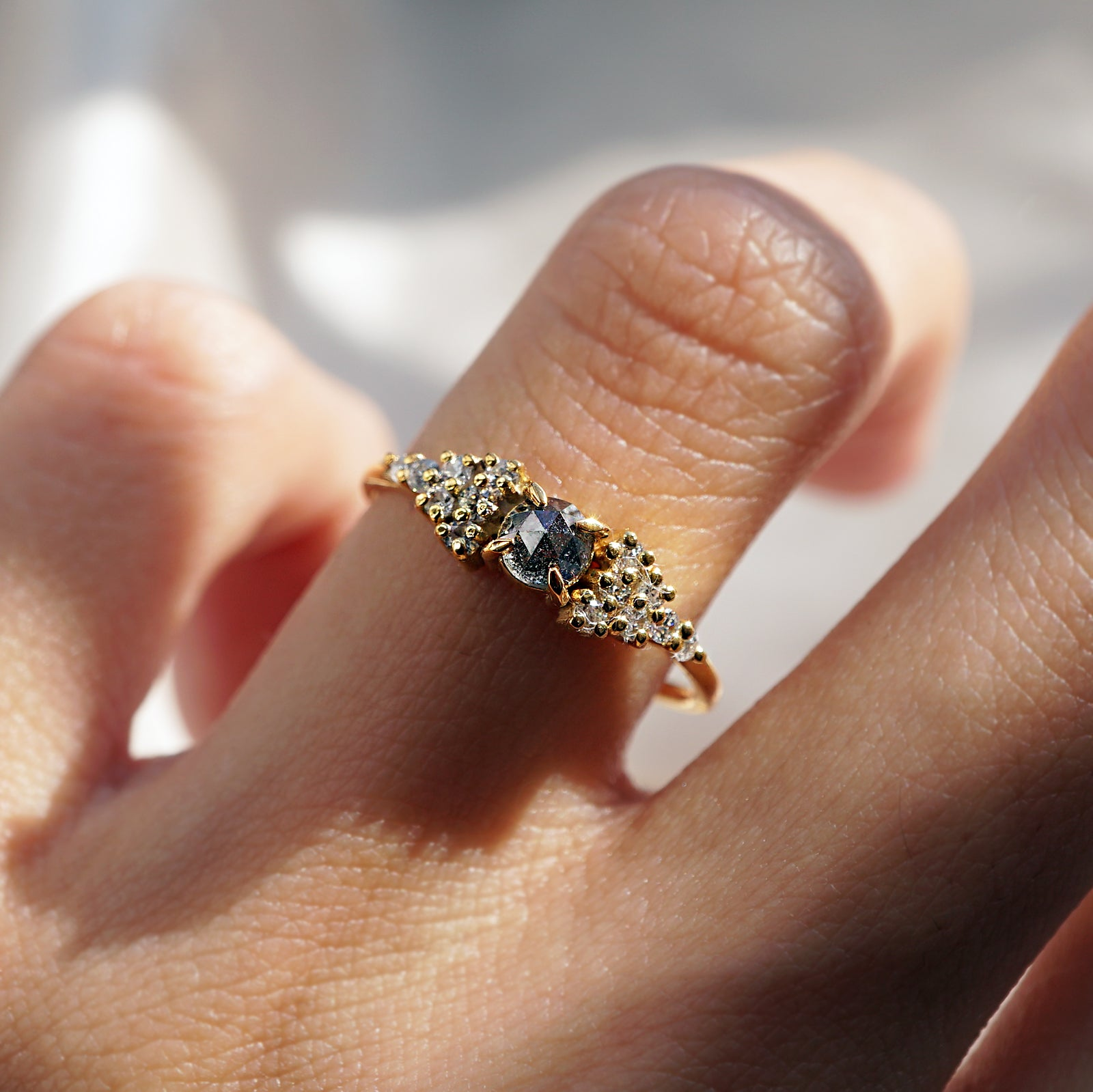 Limited Edition: Galactic Salt + Pepper Diamond Ring