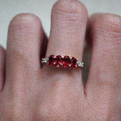 January Garnet Ring - Tippy Taste Jewelry