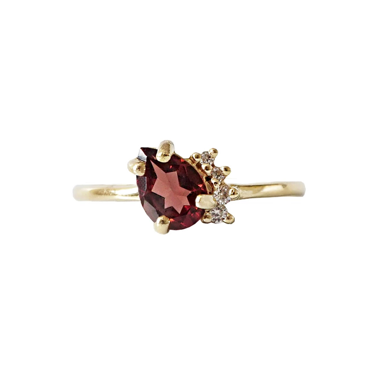 Garnet Sweetheart Ring