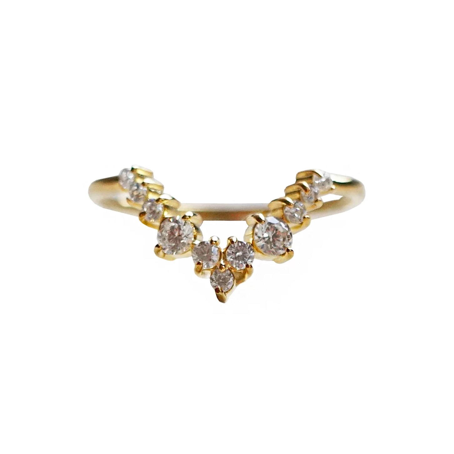 14K Goddess Diamond Ring
