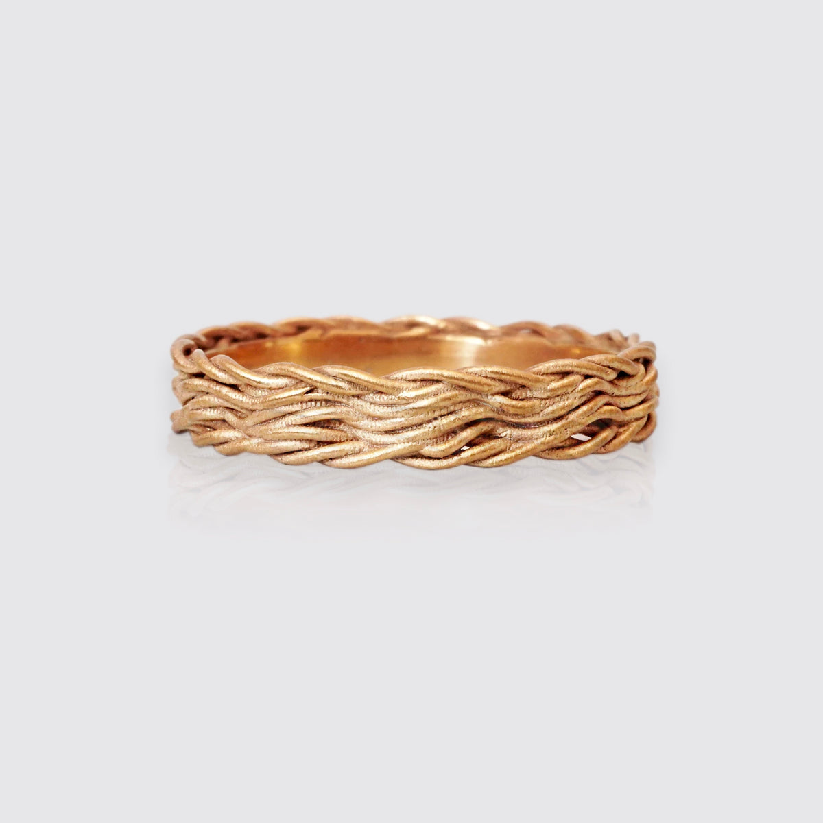 14K Intertwined Ring Band, 3mm
