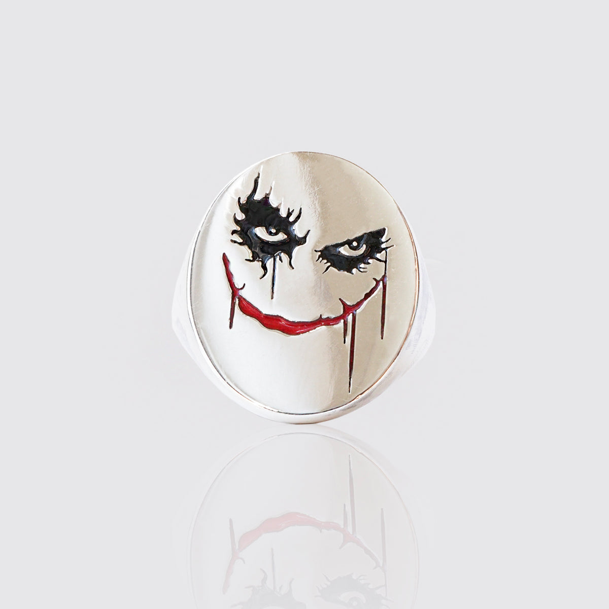 Joker Signet Enamel Ring