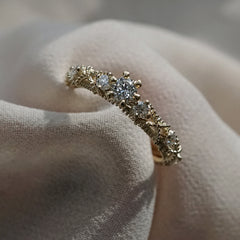 14K Lacey Diamond Ring
