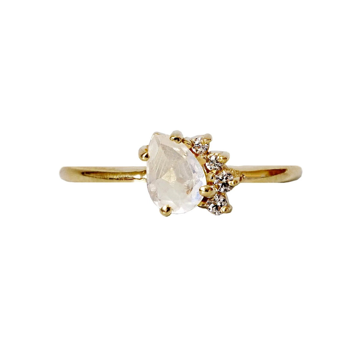 Limited Edition: Mini Moonstone Sweetheart Ring