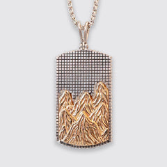 Mixed Metal Mountain Pendant