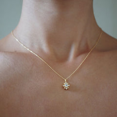 Moonstone Shooting Star Necklace
