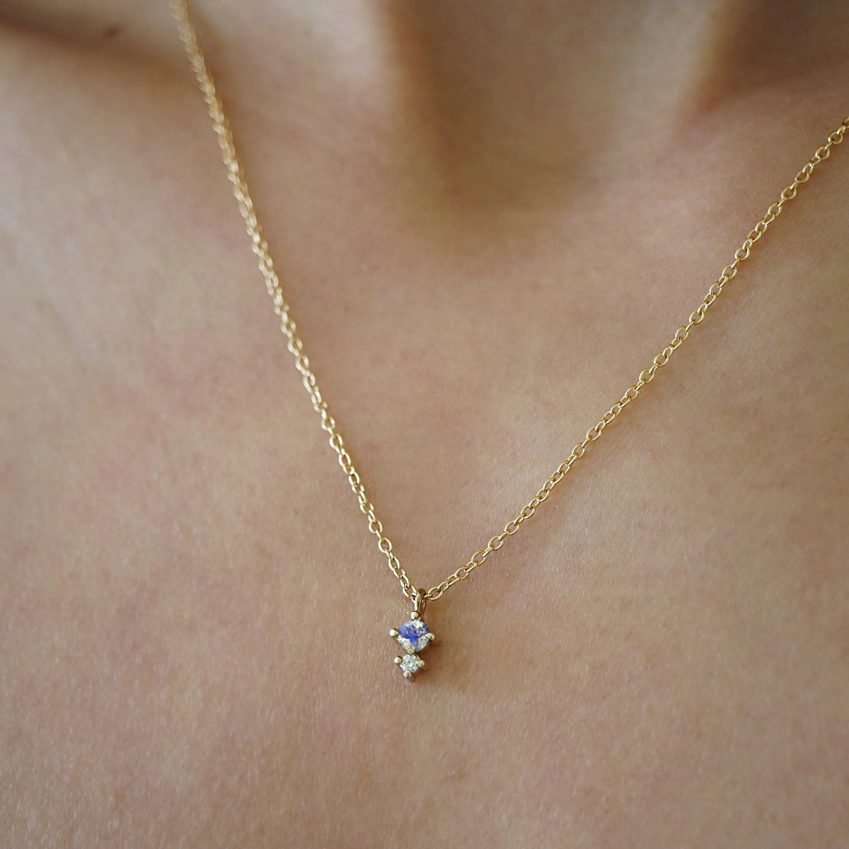 Petite Moonstone Necklace