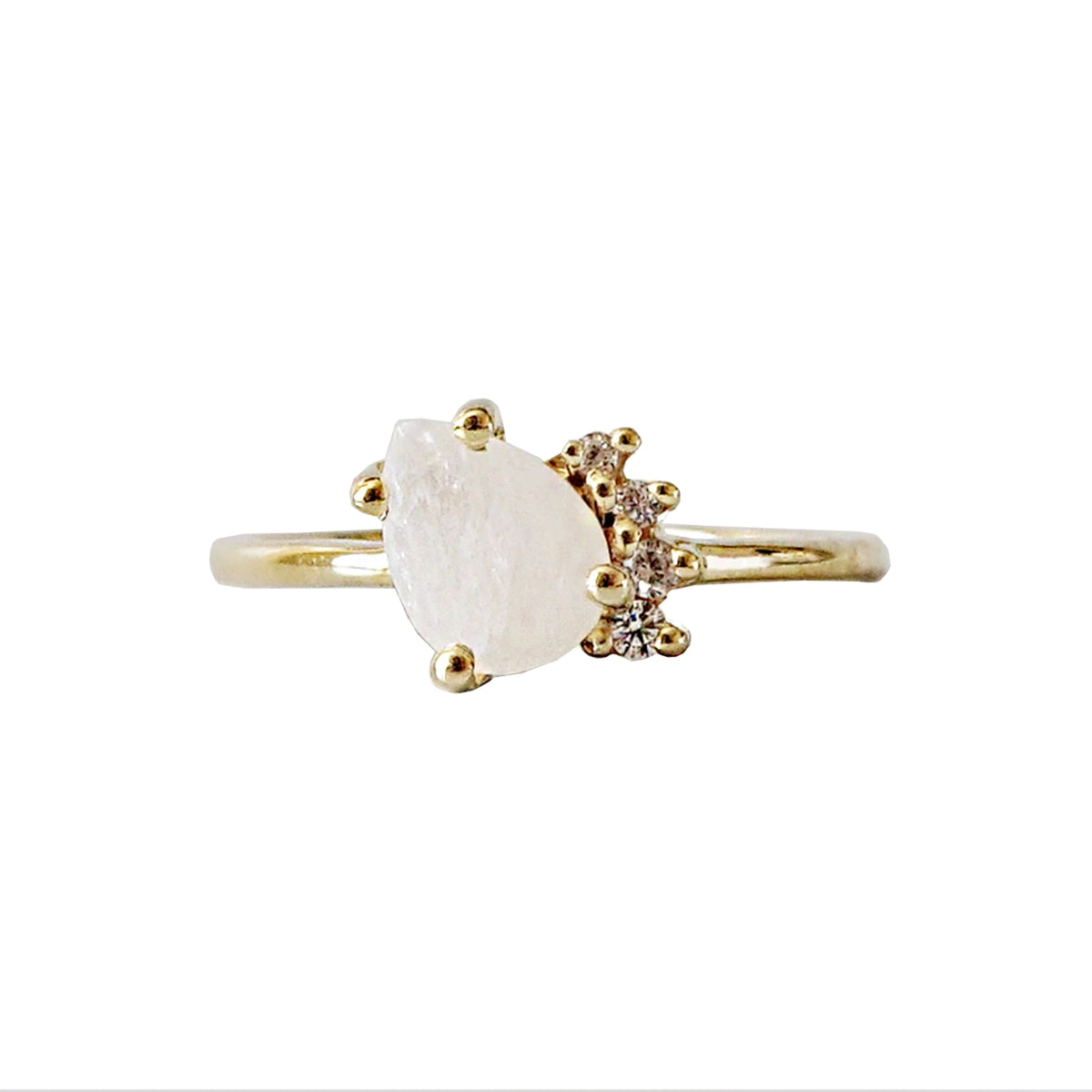 Moonstone Sweetheart Ring