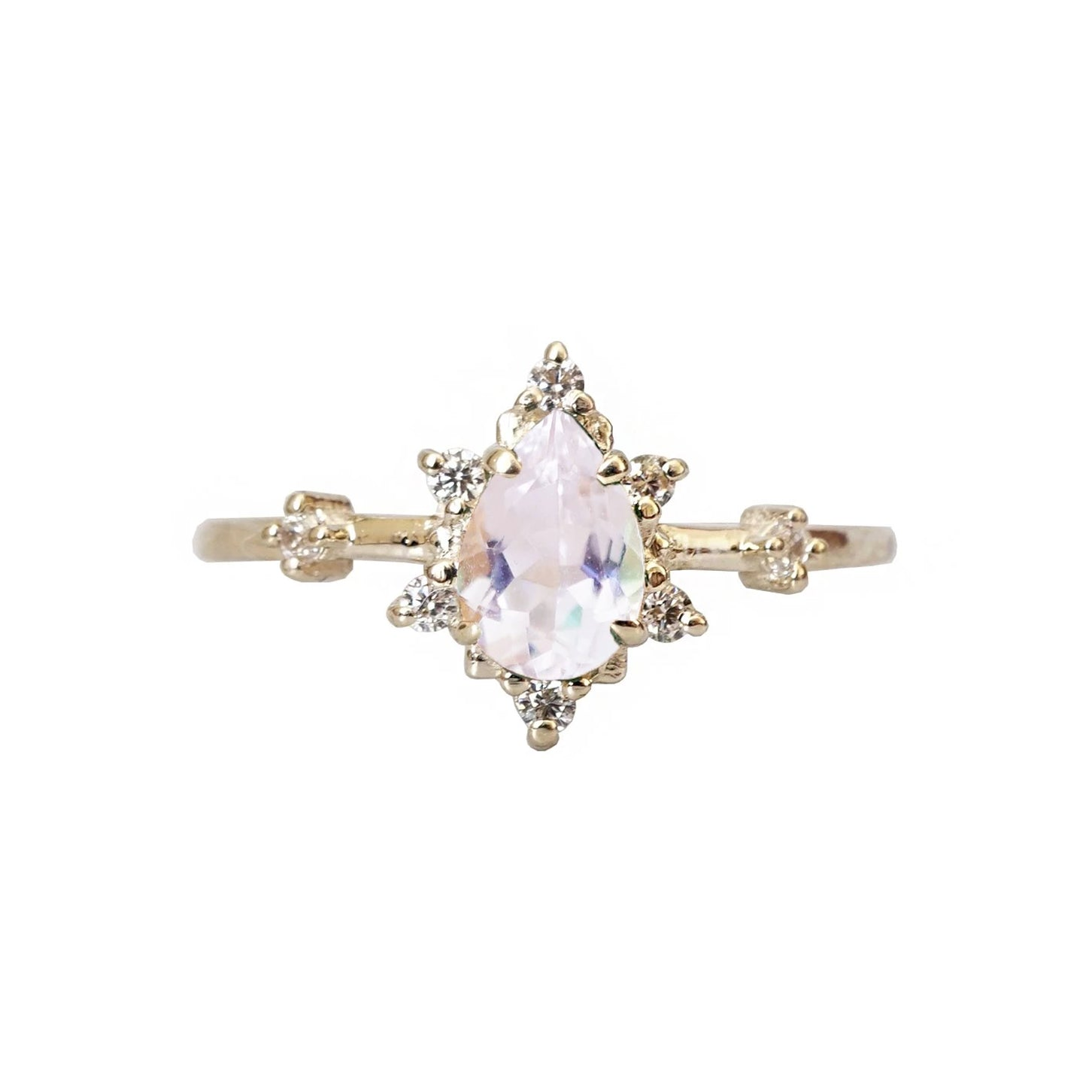 14K Morganite Diamond Crush Ring