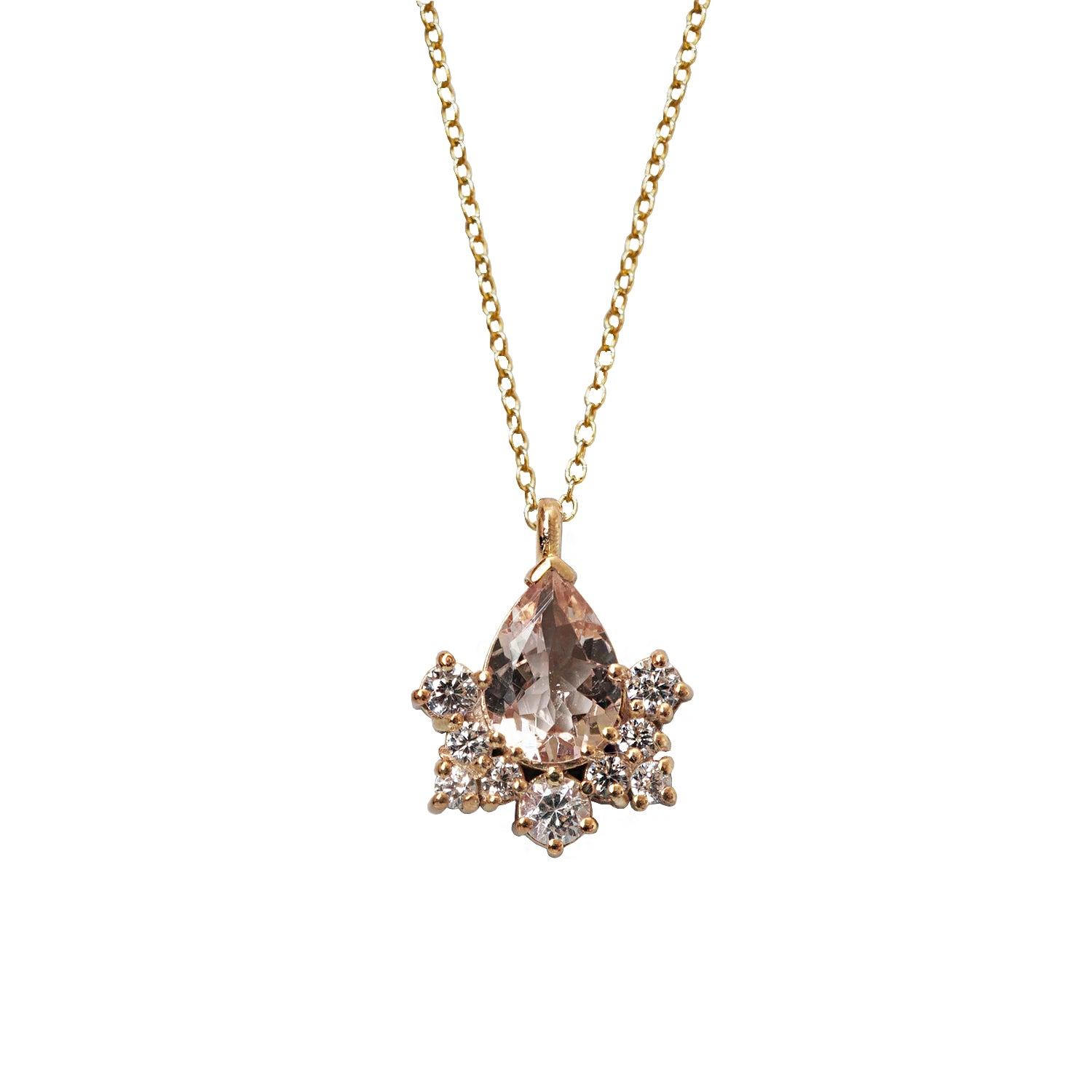 Sleeping Beauty Morganite Necklace