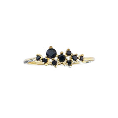 14K Night Queen Dainty Ring