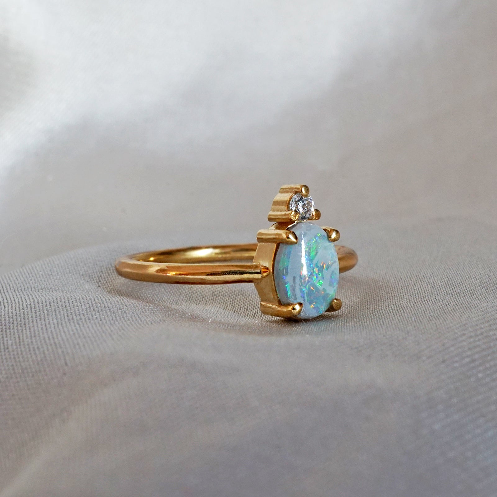 Opal Starry Night Ring