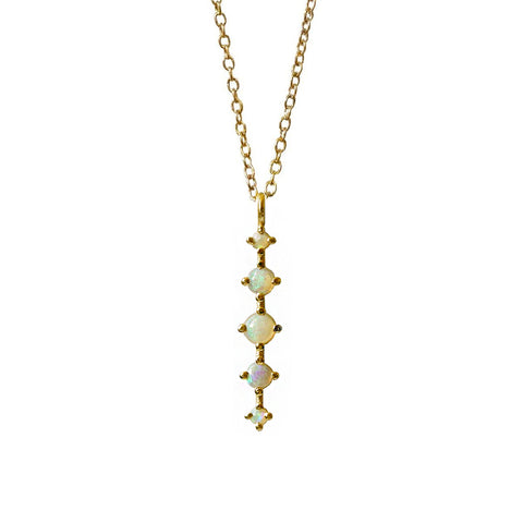 14K Opal Waterfall Necklace - Tippy Taste Jewelry