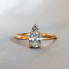 14K Diamond Starry Night Ring