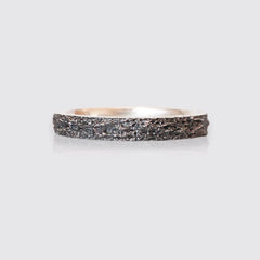 Oxidized Meteoroid Ring Band, 3mm