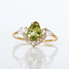 Olive Garden Peridot Pear Ring