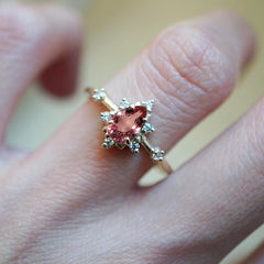 14K Pink Tourmaline Crush Ring
