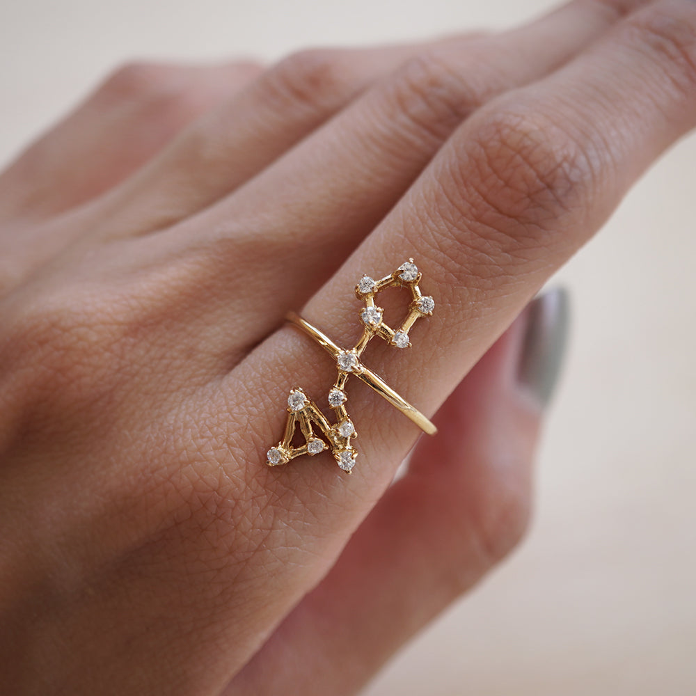 Pisces Constellation Ring - Tippy Taste Jewelry