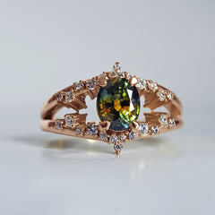 One Of A Kind: Celestial Parti Sapphire Diamond Ring