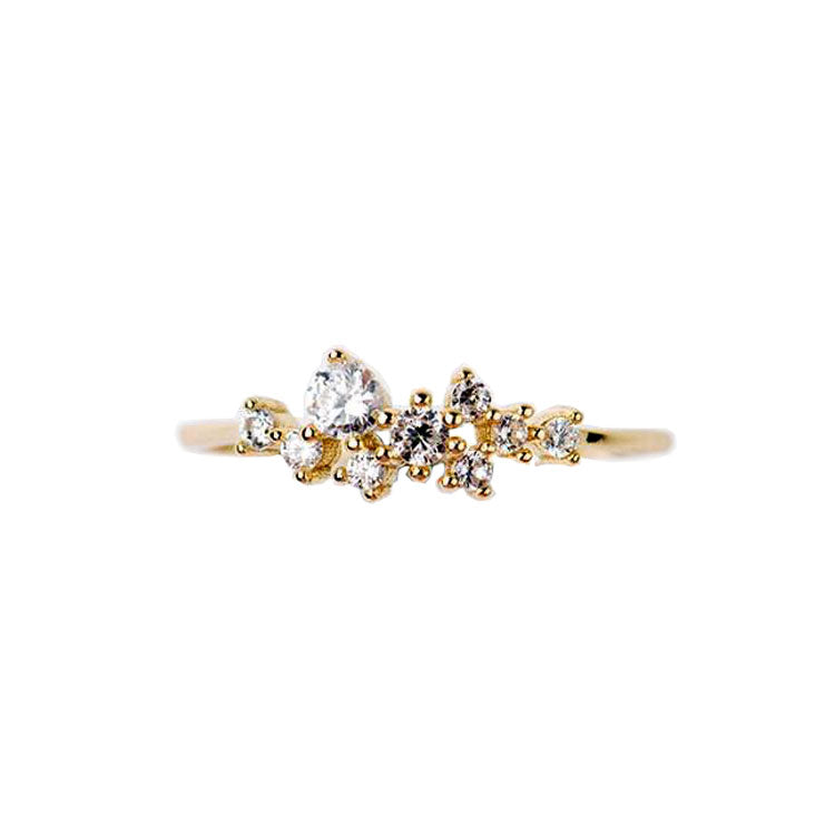 14K Snow Queen Dainty Ring - Tippy Taste Jewelry