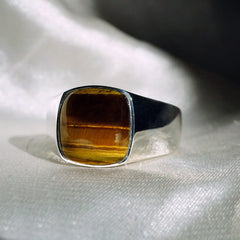 Exotic Signet Ring (3 stone choice)