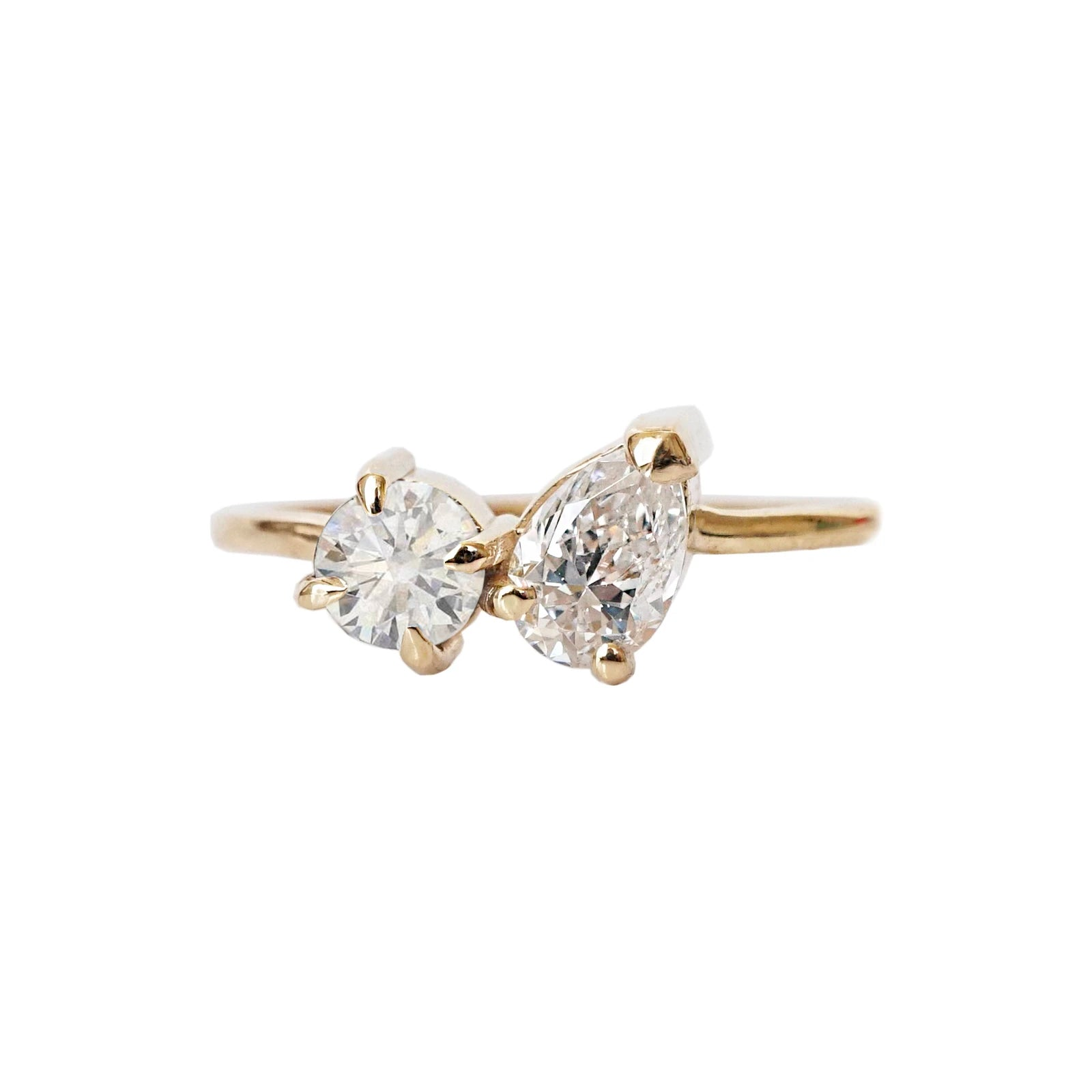 Toi et Moi Diamond Ring, 0.64ct