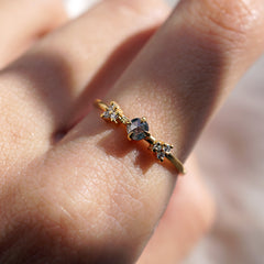 Limited Edition: Shooting Star Salt + Pepper Diamond Ring