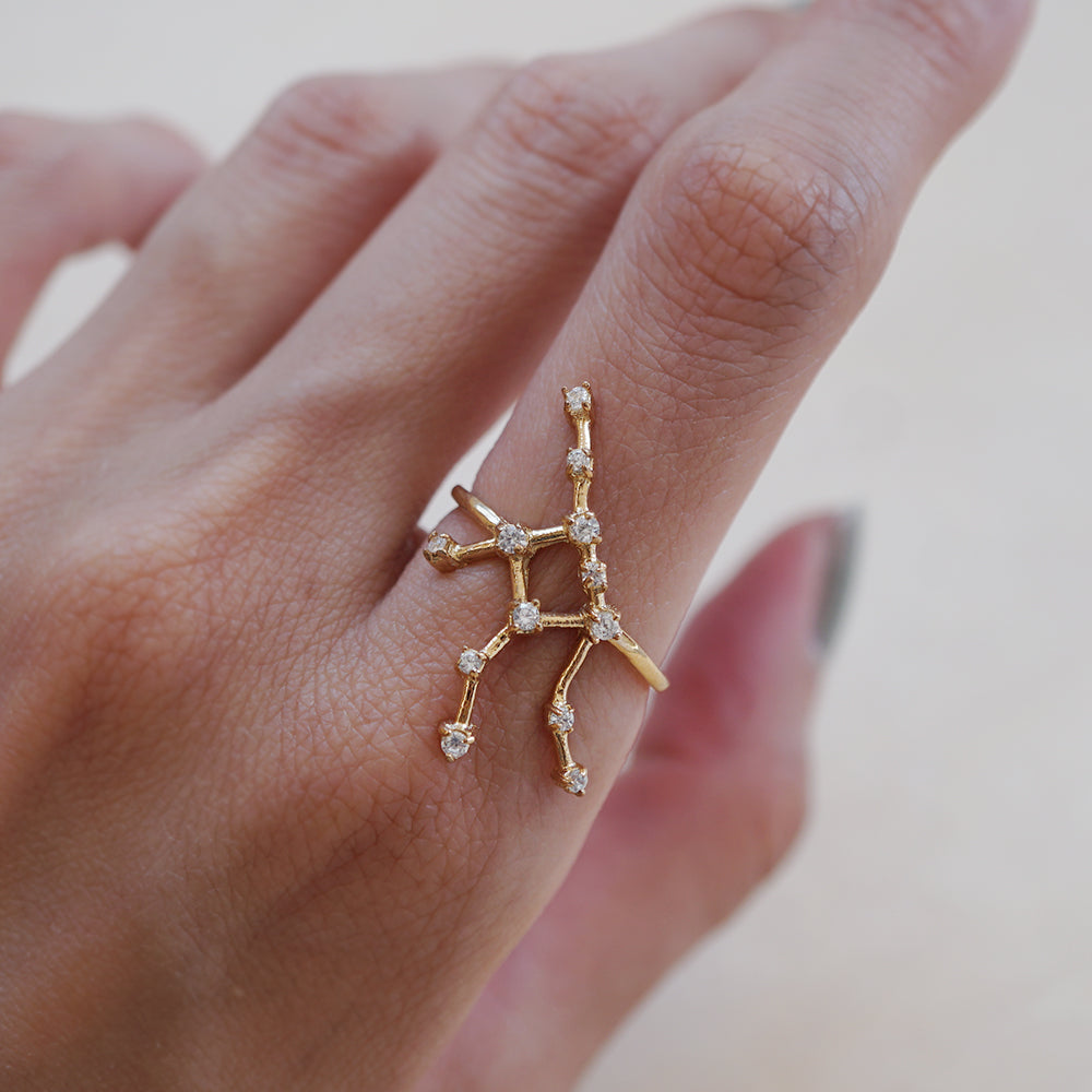 Virgo Constellation Ring - Tippy Taste Jewelry