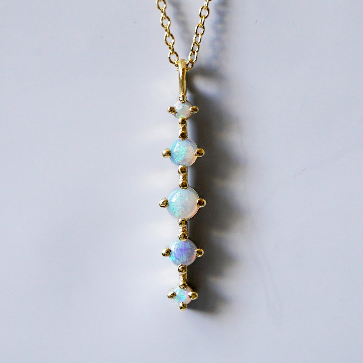 14K Opal Waterfall Necklace