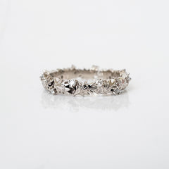 14K Wreath Diamond Ring Band