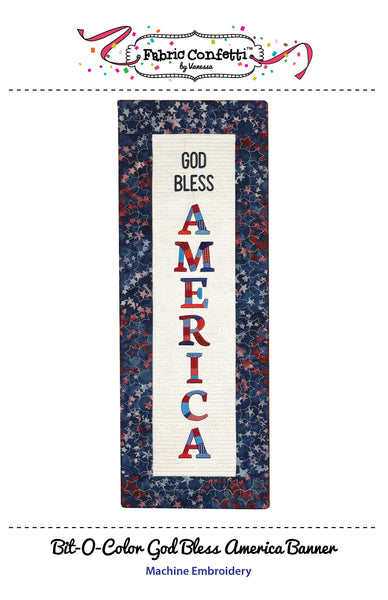 Bit-O-Color God Bless America Quilted Banner