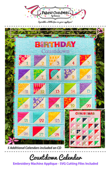 Countdown Calendar for Machine Embroidery