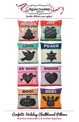 Confetti Holiday Chalkboard Pillows