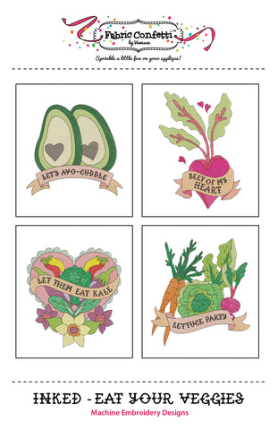 Inked - Eat Your Veggies for Machine Embroidery