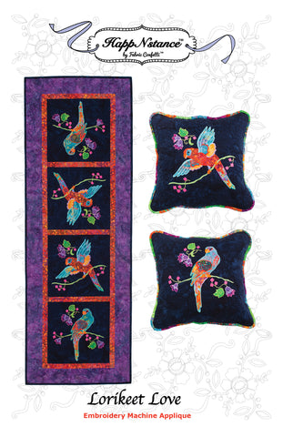 Lorikeet Love for Machine Embroidery