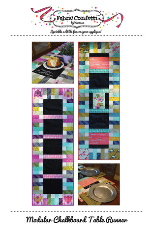 Modular Chalkboard Table Runner