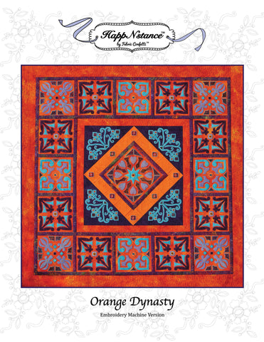 Orange Dynasty for Machine Embroidery