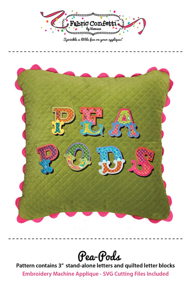 Pea-Pods for Machine Embroidery