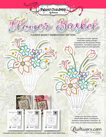 Flower Basket Machine Embroidery