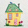 The Wonky Houses Table Runner - Spring - for Machine Embroidery