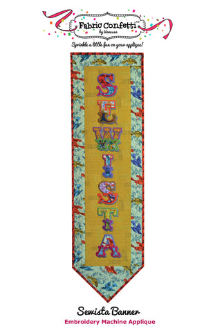 Sewista Banner for Machine Embroidery