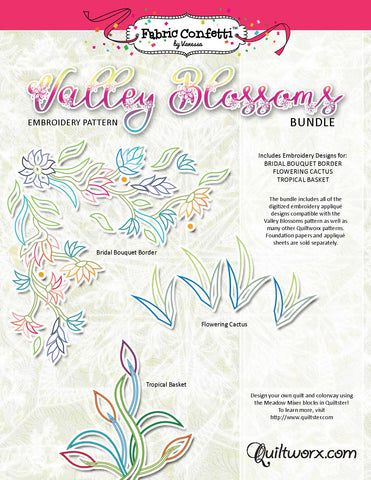 Valley Blossom Bundle Machine Embroidery