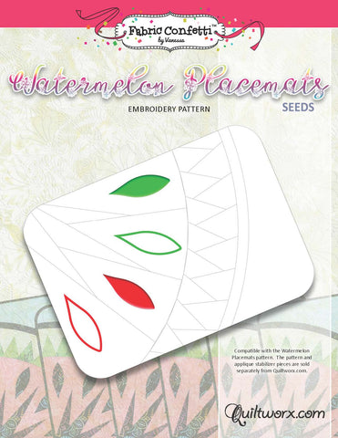 Watermelon Seeds Machine Embroidery