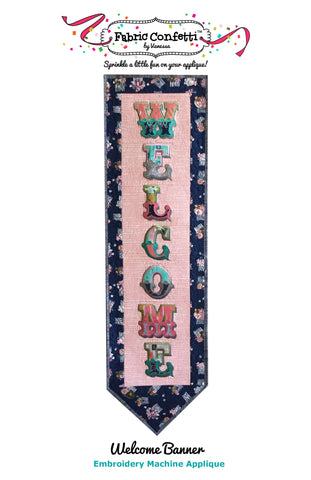 Welcome Banner for Machine Embroidery
