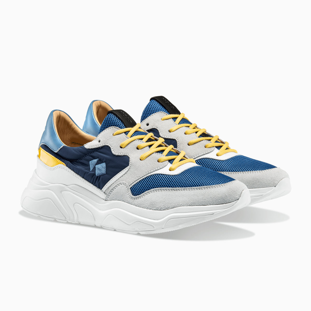 0d3f6529296b4 Men's Low Top Chunky Sneaker | Avalanche Blue/Yellow – KOIO