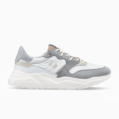 Grey White Nude Sneaker Chunky Sole Womens Koio