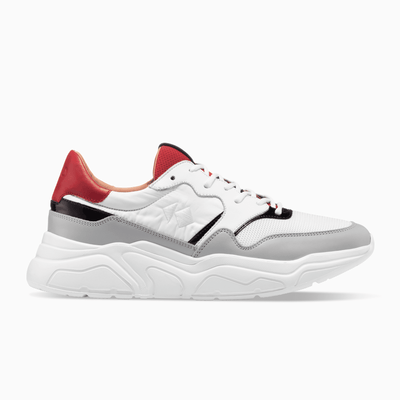 Red Grey White Sneaker Chunky Sole Womens Koio
