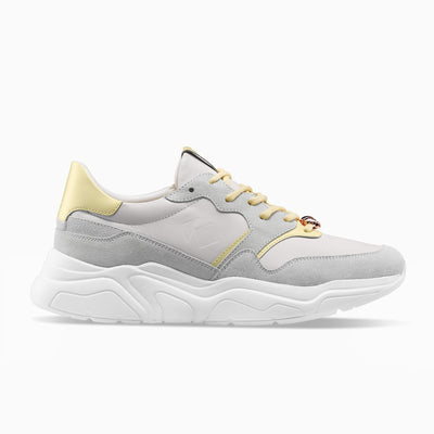 Yellow white grey Sneaker Chunky Sole Womens Koio