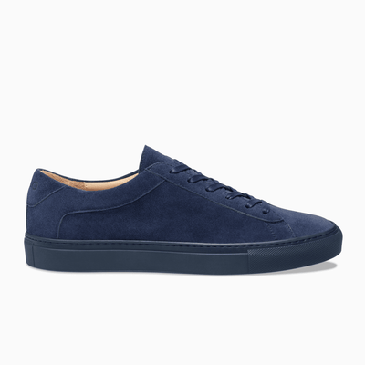 Dark Blue Suede Low Top Sneaker Mens Koio basic